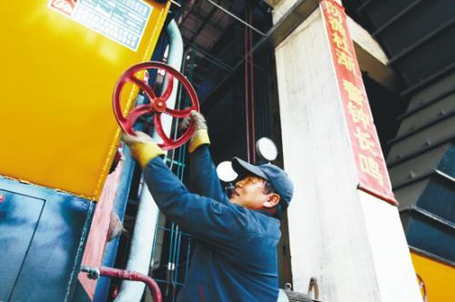 珲春市热源供给单位大唐珲春发电厂已于10月10日零点准时开栓供热